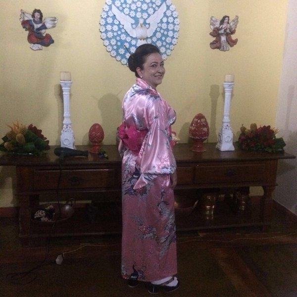 Kátia Abreu de quimono