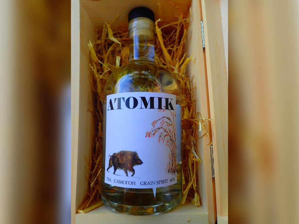 Atomik Vodka produzida com centeio de Chernobyl