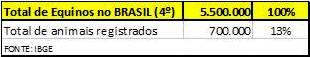 Numeros equinos Brasil_IBGE