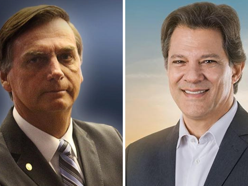 Bolsonaro oscila dentro da margem de erro e Haddad sobe 11%, diz Ibope