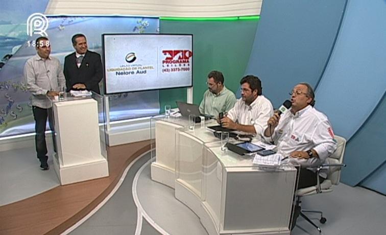 Guilhermo Sanchez, João Gabriel, Fernando Barros, Marcelo Moura e Paulo Horto durante a transmissão